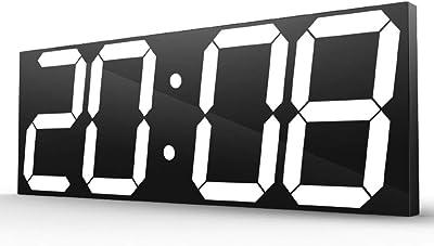 大きいLEDのデジタル壁時計、家/オフィス/公共の場のための普遍的な3D電子時計。 多機能、44.7 * 16 CM