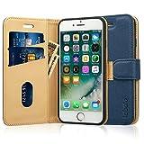 Labato iphone8 ケース 手帳型 iPhone SE2 ケース iphone7ケース 手帳型 あいふぉん8ケース 人気 カード収納 スタンド PUレザー スマホケース8 (iphone8,ディープブルー)