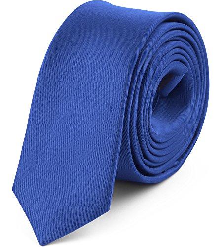 Ladeheid Corbatas Estrechas Diversidad de Colores Accesorios Ropa Hombre SP-5 (150cm x 5cm, Azul2)
