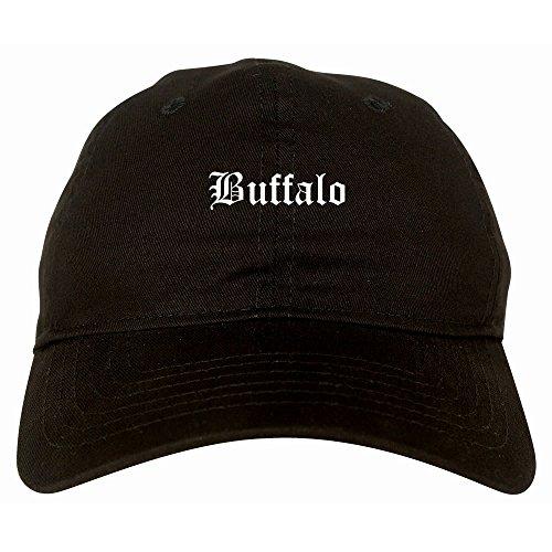 Kings Of NY Buffalo City New York NY Goth 6 Panel Dad Hat Cap Black