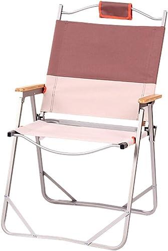 AGLZWY Chaise Pliante Tabouret Camping Pêche Polyvalent Alliage D'aluminium Dossier Accoudoir De Plein Air Chaise De Plage (Couleur   B, Taille   62X53X88CM)