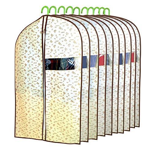 QFFL Sac de compression sous vide Housse anti-poussière, pochettes suspendues (10 par paquet) Household Plus Thick Suit Coat Sac de protection (taille : 60 * 97cm)