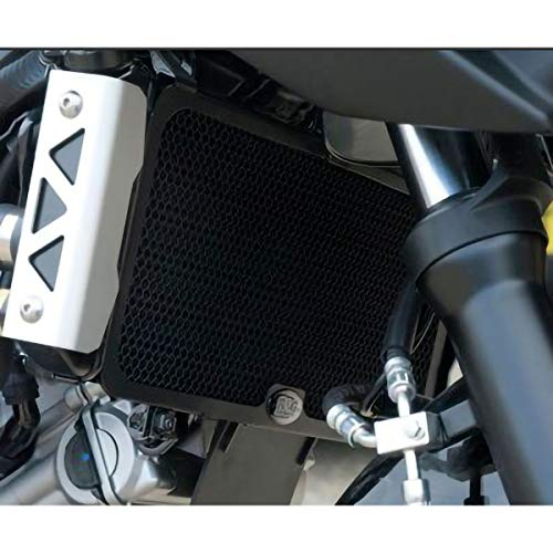 R&G Racing Aluminum Radiator Guard (1 Piece) (Black) Compatible with 06-08 Suzuki SV650
