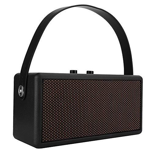 Altavoz Bluetooth de Madera, Reproductor de Música Inalámbrico Bluetooth Portátil Subwoofer Altavoz Bluetooth con Correa de Mano Fácil de Llevar