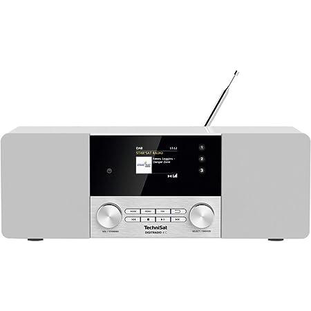 Technisat Digitradio 4 C Stereo Digital Radio Dab Ukw Farbdisplay Bluetooth Kopfhöreranschluss Aux Eingang Radiowecker Oled Display 20 Watt Rms Elac Lautsprecher Weiß Heimkino Tv Video
