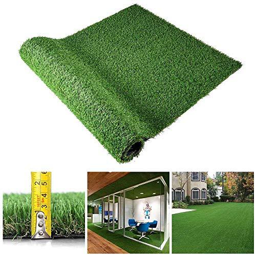 Yescom Indoor/Outdoor 5ft x 3.3ft Fake Grass Lawn Artificial Grass Mat Dog Potty Turf, Green