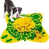 Pejoye Alfombra Olfativa Perros Snuffle Mat Estera de Alimentación Tejida para Perros Lavable en la Lavadora Juguetes para Perros para Gatos Perros Plegable Portátil Uso de Viaje
