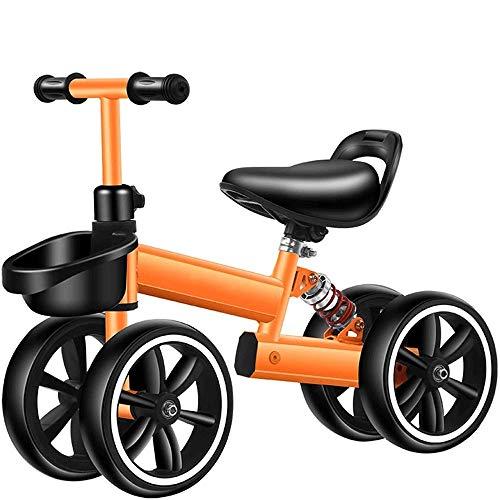 SXNYLY Andador Equilibrio Moto Scooter de Cuatro Ruedas de Ejercicio de Equilibrio Interior y al Aire Libre Juega el Regalo de cumpleaños for niños y niñas Adecuado for 18-36 Meses de Edad