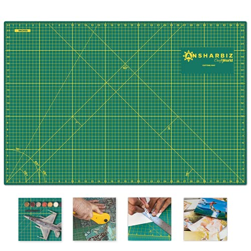 Cutting Mat for Sewing & Crafts - 24x36inches, Sturdy Rotary Cutting Mat w  Self Healing, Non Slip Surface - Perfect Craft, Fabric Cutting Board for Quilting & Sewing - Large Double Sided Mats