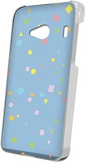 スマQ Qua phone QX KYV42 カラフル 三角 四角 丸 スマホケース ハードケース KYOCERA 京セラ キュアフォン キューエックス au ami_(D.ブルー)