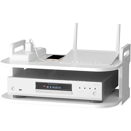 HONUTIGE Estante para TV Box, soporte para router de pared para reproductor de DVD, estante flotante multiusos para componentes de TV, cajas de cable, routers, mandos a distancia, consolas de juegos