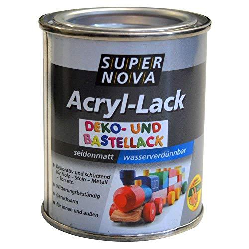 Super nova Acryl Lack Deko-Bastellack 125 ml seidenmatt Farbwahl, Farbe:Grün-Mettalic