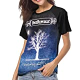 JEWold OneRepublic Dreaming out Loud Camiseta de Manga Corta de béisbol para Mujer Raglán Negro Camisetas Camisetas para Mujeres