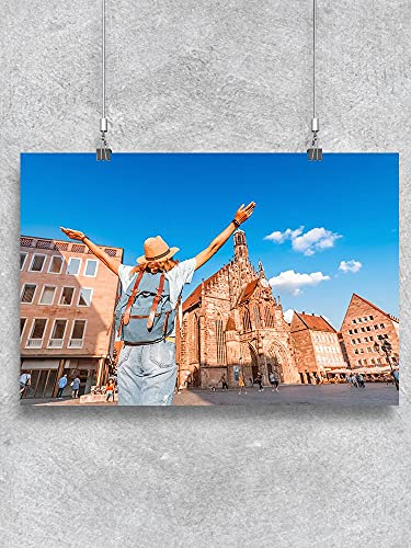Pôster de turista em Nuremberg