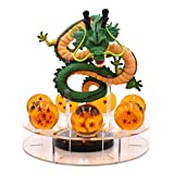 Lámpara de noche 15cm Dragon Ball Figura de Acción Verde Shenron y Dragonball Bolas Estante Figuras ...