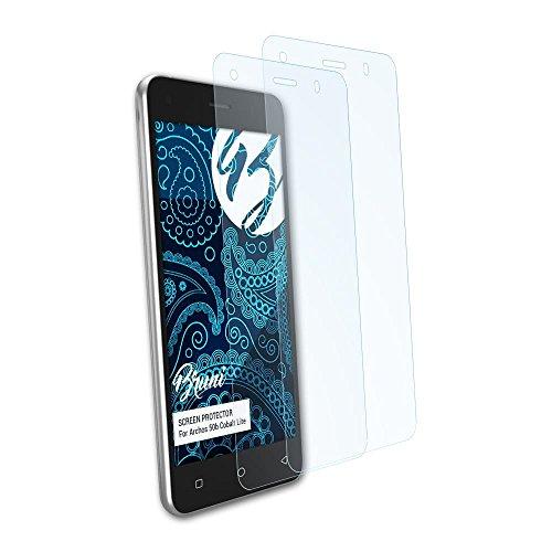 Bruni Schutzfolie kompatibel mit Archos 50b Cobalt Lite Folie, glasklare Bildschirmschutzfolie (2X)