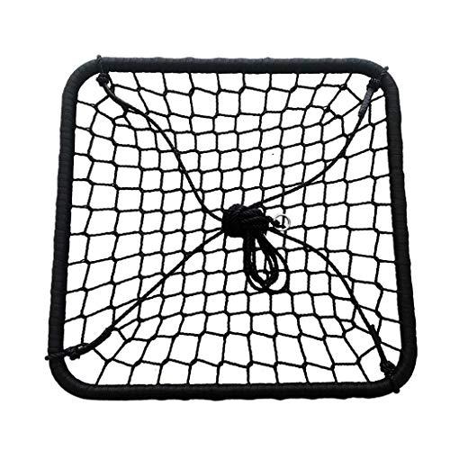 unknow Große quadratische Schaukel, Spinnennetz-Veranda im Innen- und Außenbereich oder Baumseilschaukel, ideal für Baum, Schaukel, Garten, Spielplatz, Spielzimmer & ndash;Im Lieferumfang enthalte