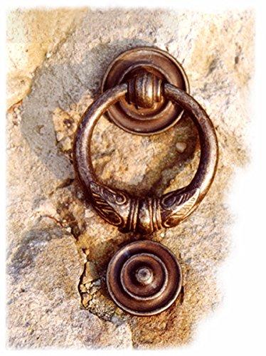 Antikas - Türklopfer mit Ring, wie Toskana antik, für die Haustür, Türbeschläge Messing
