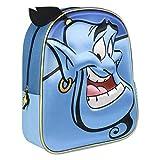 Artesania Cerda Mochila Infantil 3d Clasicos Disney Aladdin Sac à dos enfants, 31 cm, Bleu (Azul)
