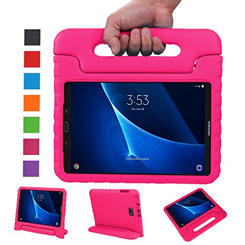 NEWSTYLE Samsung Galaxy Tab A 10.1 Kids Case (2016 NO S Pen Version) - Shockproof Light Weight Protection Handle Stand Case for Galaxy Tab A 10.1 Inch (SM-T580 / T585) Tablet 2016 Release (Rose)