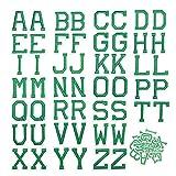 52pcs Parches para Ropa Termoadhesivos, Parches Termoadhesivos Bordados, Parches Bordados, Parches de Letras, Parches de Alfabeto para Bricolaje Costura Jeans Bolsa Ropa Camisa (Verde 1)