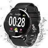 Smartwatch, Reloj Inteligente Hombre Mujer Smartwatch Deporte Monitores de Actividad Fitness Tracker con Cronómetro/Monitor de Ritmo Cardíaco/Sueño Pulsera Actividad Inteligente para Android y iOS