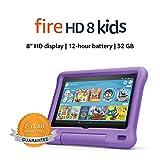 Fire HD 8 Kids tablet, 8' HD display, 32 GB, Purple Kid-Proof Case