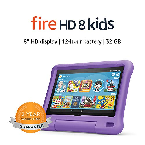 "Fire HD 8 Kids tablet, 8"" HD display, ages 3-7, 32 GB, Purple Kid-Proof Case"