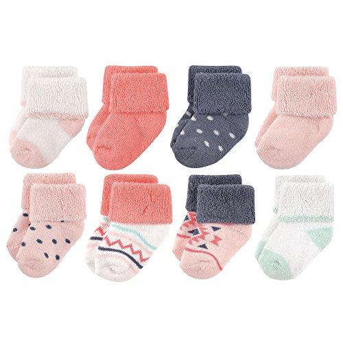 Luvable Friends Unisex Baby Socks, Girl Aztec 8-Pack, 0-6 Months