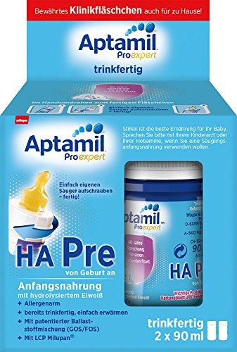 Aptamil ProExpert HA Pre Anfangsmilch, trinkfertig, 12er-Pack (12 x 2 x 90 ml)