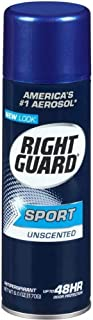 Right Guard Sport Anti-Perspirant, Unscented, 6 oz (Pack of 3)
