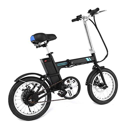 Ancheer Bicicleta eléctrica eBike Bicicleta eléctrica con neumáticos de 35 Pulgadas con batería de Litio de 70 V 8 Ah, Motor Estable de Alta Velocidad de 300 W