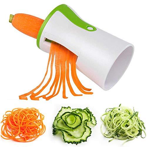 Egetable Spiralschneider, Hand-Spiralschneider, Zucchini-Spaghetti-Maker, Nudelmaschine, Gemüseschneider, Lebensmittelzerkleinerer Gemüsereibe für Zucchini, Gurken, Karotten