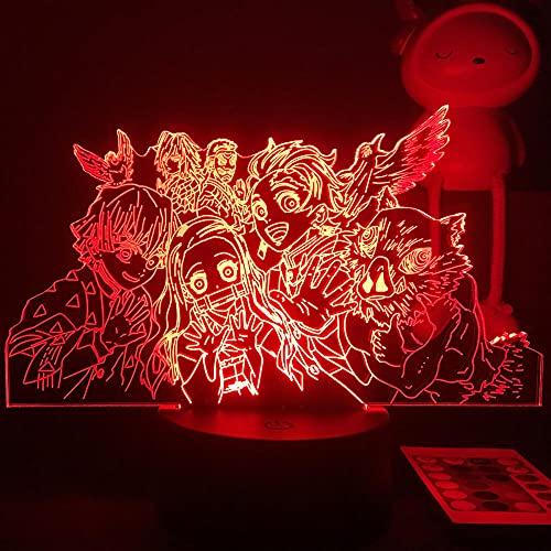 ZGLQ - Luz nocturna 3D LED de anime Demon Slayer para niños y niños, decoración para dormitorio