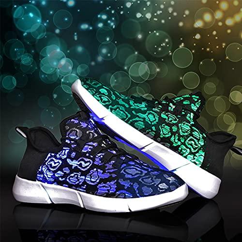 APWIN Zapatillas Luminosas USB para Niños, Zapatos para iluminar con Luces LED, Deportivas para Correr, Zapatos de Fibra óptica para Niños,Niñas y Adultos, Brillan se Iluminan,11 Colores34