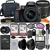 Nikon D5600 DSLR Camera 24.2MP with NIKKOR 18-55mm f/3.5-5.6G VR Lens, 2 Pack SanDisk 32GB Memory Card, Case, Tripod, Filter Kit and ZeeTech Accessory Bundle (Black)