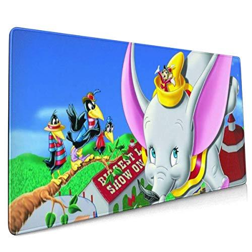 BFGTH Dumbo Gaming Mouse Pad Alfombrillas de ratón Personalizadas Grandes para computadora portátil, 15.8x35.5 Pulgadas Cubierta de Escritorio Computadoras Teclado Bordes cosidos Alfombrilla de ratón