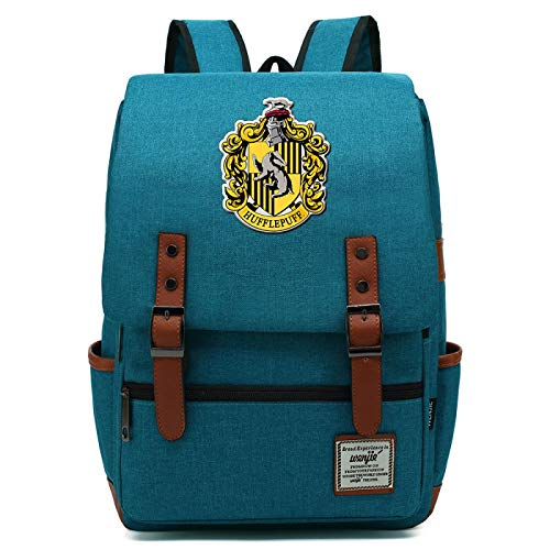Mochila de Harry Potter para nias y nios Mochila Ligera para Libros de 7 a 15 Grados Paquete para Estudiantes Hufflepuff Ocean Blue