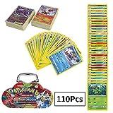 110Pcs Jeu de Cartes Pokemon Cartes, Carte de Pokemon Amusant pour Enfants, Cartes à Collectionner, Sun & Moon Series Burning Shadows