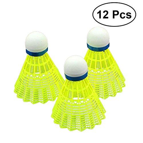 VORCOOL 12PCS Nylon Feather Badminton Deportes Interior