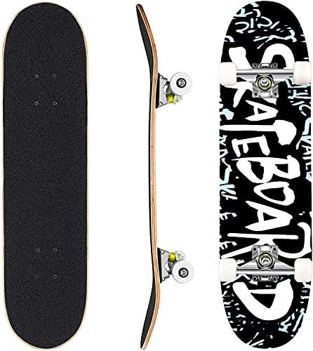 WeSkate Skateboard Komplett Board 79x20cm Holzboard ABEC-7 Kugellager 31 Zoll 7-lagigem Ahornholz, 91A Rollen für Anfänger Kinder Jugendliche und Erwachsene