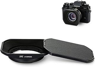 JJC メタル 正方形 レンズフード + フードキャップ 富士フィルム Fujifilm Fujinon XC 35mm F2 & XF 23mm / 35mm F2 R WR レンズ 用 X-T4 X-T200 X-A7 X-Pro3 X-P...
