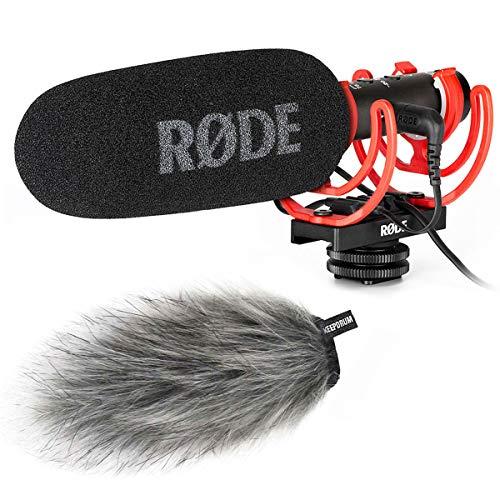 Rode Videomic NTG Broadcast Kamera-Mikrofon + keepdrum Fell-Windschutz
