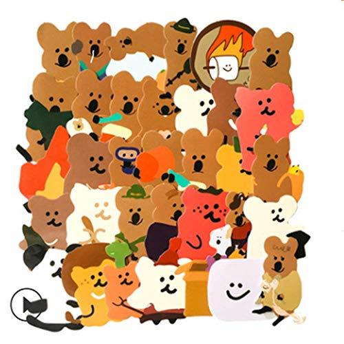 Koala Bear Cartoon Cute Waterproof Sticker Helmet Sticker Notebook Suitcase Cute Sticker 34 Sheets