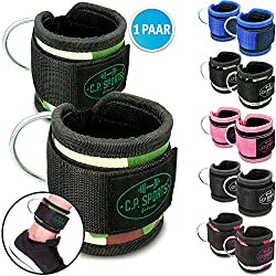 CPSports Premium Wrist Strap, Foot Strap, Foot Straps Fitness, Foot Strap Sub, Straps Cord Cable (Black)