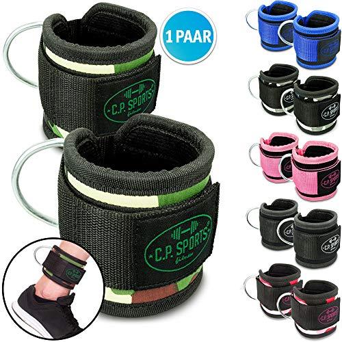 C.P.Sports Premium Hand- und Fußschlaufe, Fußschlaufen Fitness, Fußschlaufe Sub, Fußschlaufen Kabelzug (Schwarz)