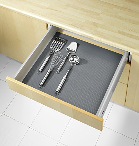 WENKO 47040100 Anti-Rutsch-Matte Grau Extra Stark, Schubladeneinlage, zuschneidbar, geräuschdämpfend, Ethylenvinylacetat, 50 x 150 cm, Grau