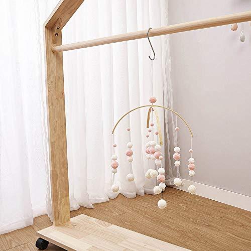 Moonvvin Baby Rasseln Mobile Holzperlen Windspiele Glocke Baby Spielzeug für Kinderzimmer Bett Hängen Zelt Decor Fotografie Requisiten...