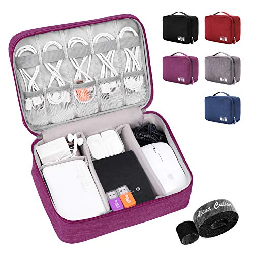Alena Culian Electronic Organizer Travel Universal Cable Organizer Electronics Accessories Cases for Cable Charger Phone USB SD Card