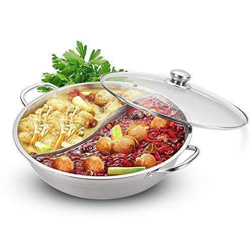 8bayfa, roestvrijstalen afzuigkap met 2 vakken, roestvrij staal, koken, soeppan met glazen deksel, zeef, kooklepel, keukengerei voor inductie